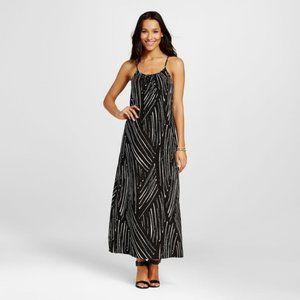 3 for $30 Merona Black White Printed Maxi Dress